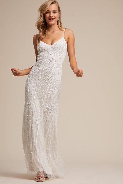 8796ba3fed 21 Beach Wedding Dresses You'll Love   Woman Getting Married