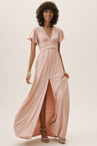 19382631ae 21 Pretty Pink Bridesmaid Dresses We Love for Spring Summer
