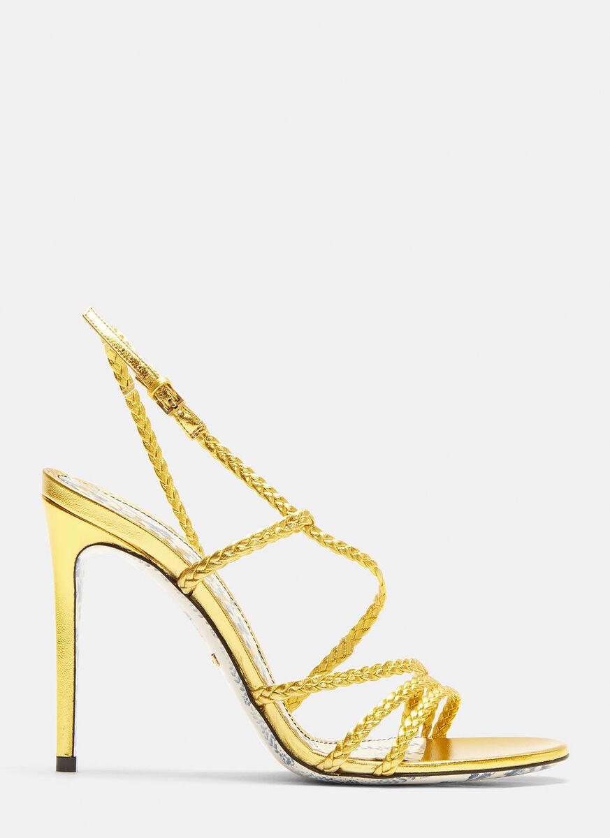 e55dea80560e Gucci Haines Braided Metallic Leather Slingback Sandals ( 850)