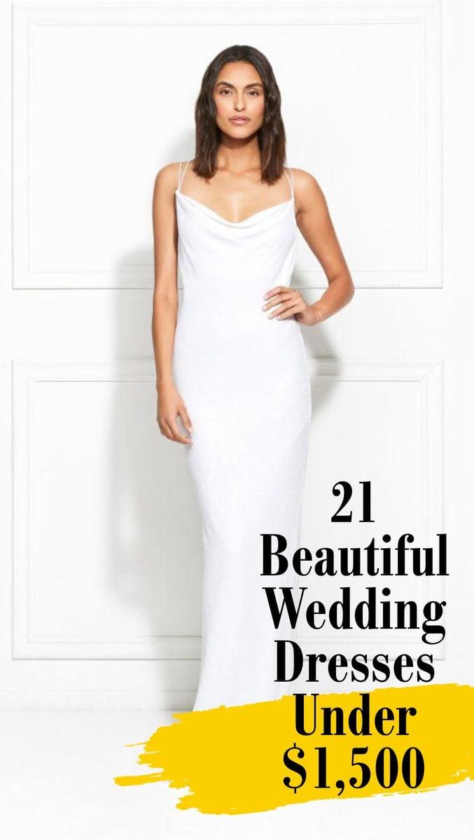 Beautiful wedding dresses under $1,500