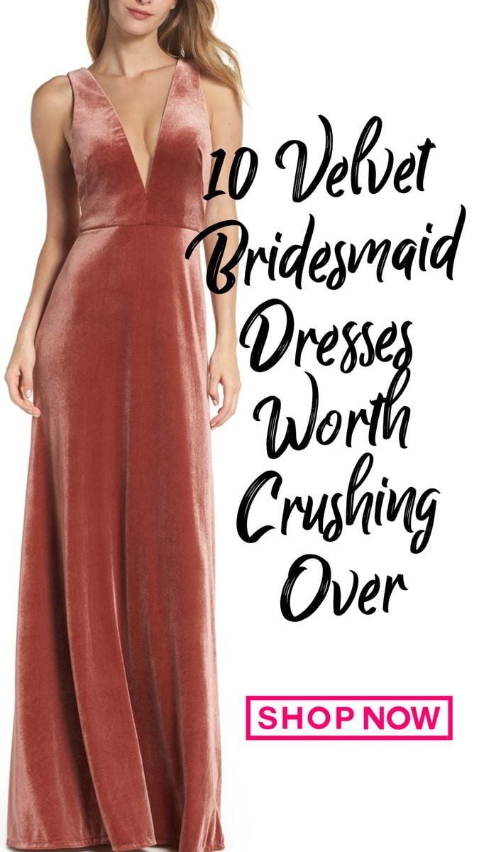 10 of the best velvet bridesmaid dresses this season