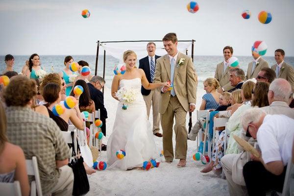 beach wedding balls