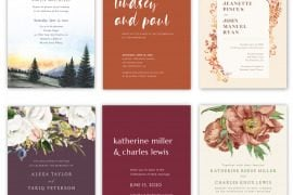 best fall wedding invites