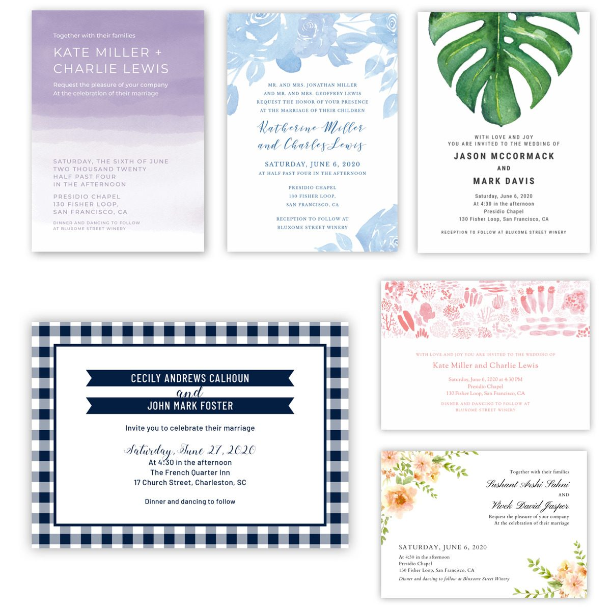 best summer wedding invitations