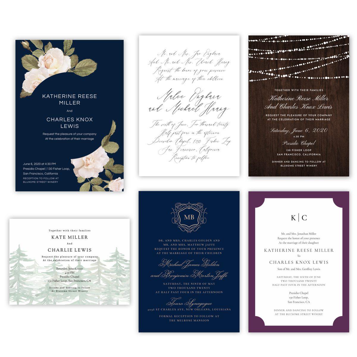 best winter wedding invitations
