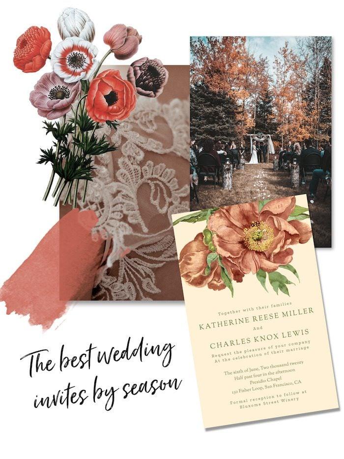 the best wedding invitations by season