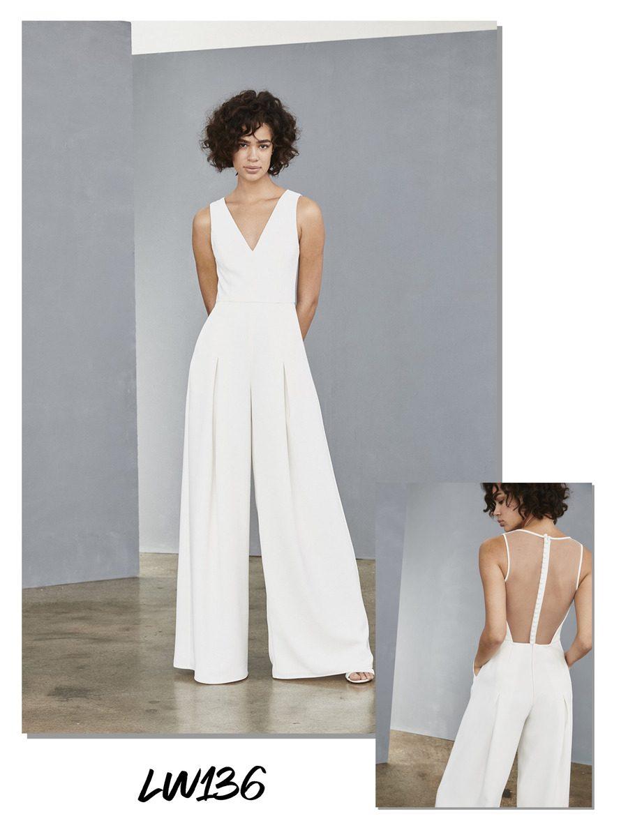 Amsale little white wedding dress
