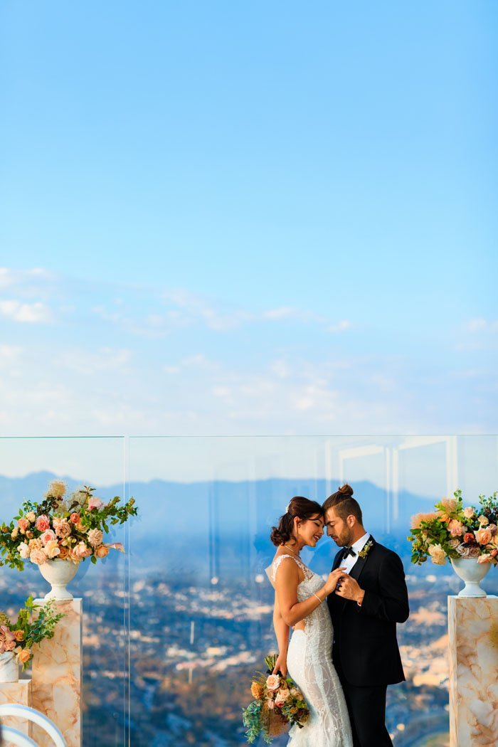 The view from this Los Angeles wedding venue is crazy