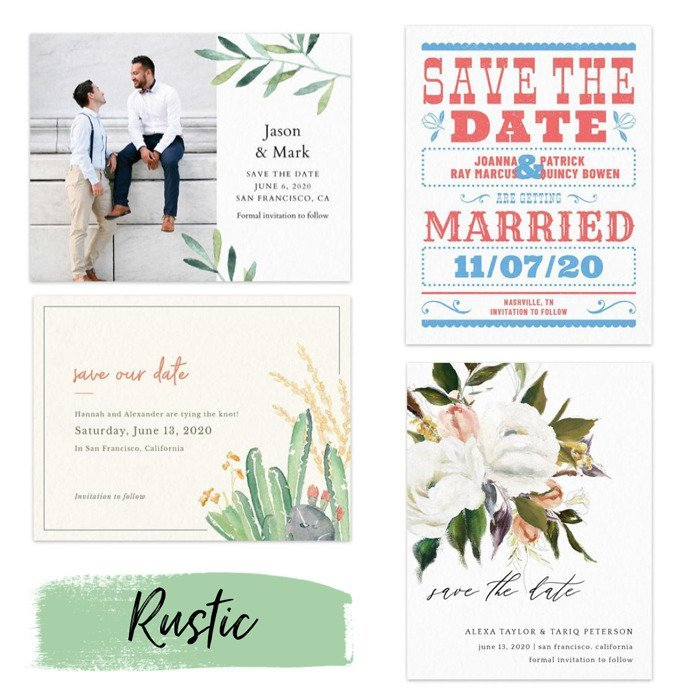 rustic save the dates