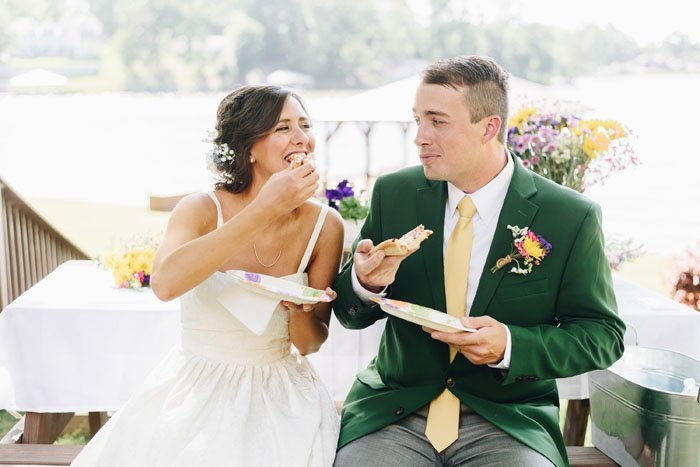 A Low-Key and Lovely Lakefront Wedding