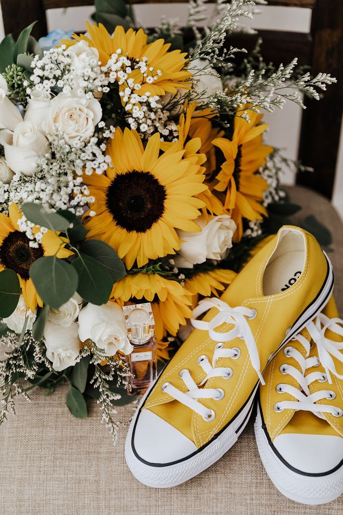 A Cheery California Wedding with the Prettiest Sunflowers