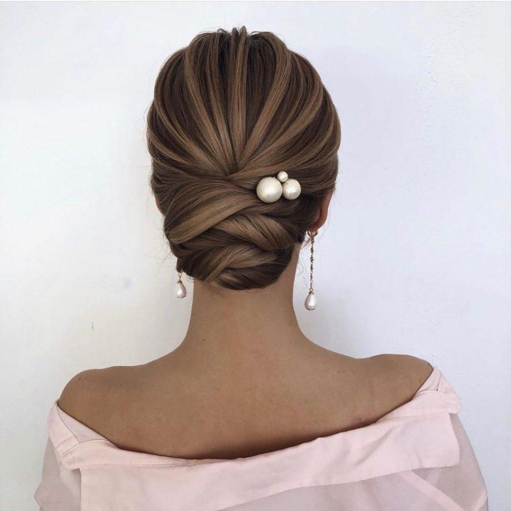 chignon bridesmaid hairstyle
