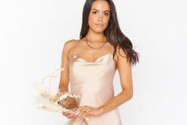 champagne color bridesmaid dress