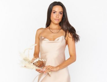 champagne color bridesmaid dress