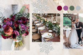 winter wedding color palette