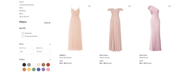 online bridesmaid dresses