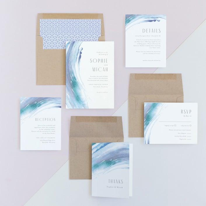 minted wedding invitation suite